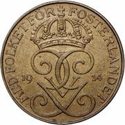 5 öre - Gustaf V (bronze) -  avers