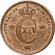 ⅓ skilling banco - Carl XIV Johan -  avers