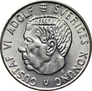 1 krona Gustav VI -  avers