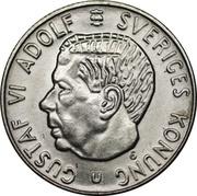 1 krona Gustaf VI Adolf -  avers