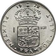 1 krona Gustaf VI Adolf -  revers