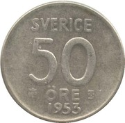 50 öre Gustaf VI Adolf -  revers