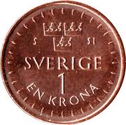 1 Krona - Carl XVI Gustaf -  revers