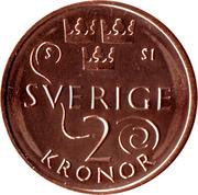 2 Kronor - Carl XVI Gustaf -  revers