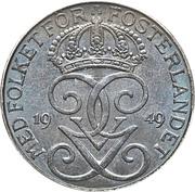 5 öre - Gustaf V (fer) -  avers