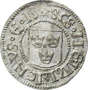 Gustav Vasa - Örtug – avers