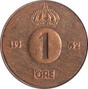 1 öre - Gustaf VI Adolf -  revers