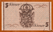 5 Kronor (King Gustav V's Birthday) – revers