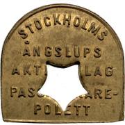 5 Öre - Stockholms Ångslups Aktiebolag – avers