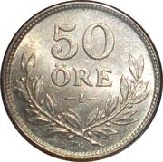 50 öre Gustaf V -  revers