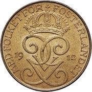 2 öre - Gustaf V (bronze) -  avers