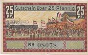 25 Pfennig (Süderbrarup) – revers