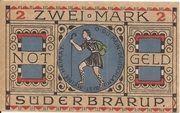 2 Mark (Süderbrarup) – revers