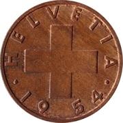 2 centimes Croix suisse – avers