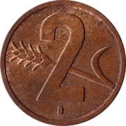 2 centimes Croix suisse – revers