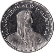 5 francs Tête de Berger (cupronickel) -  avers
