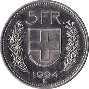 5 francs Tête de Berger (cupronickel) -  revers