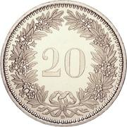 20 centimes Tête de Libertas (cupronickel) -  revers