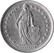 1 franc Helvetia debout (cupronickel) -  avers