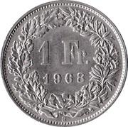 1 franc Helvetia debout (cupronickel) -  revers