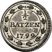 ½ batzen – revers