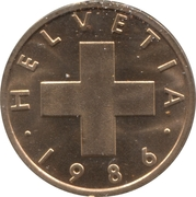 1 centime Croix suisse -  avers