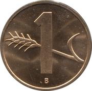 1 centime Croix suisse -  revers