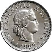 5 centimes Tête de Libertas (cupronickel) -  avers