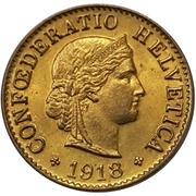5 centimes Tête de Libertas (laiton) – avers