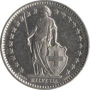 ½ franc Helvetia debout (cupronickel) -  avers