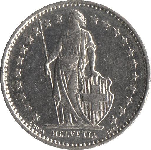 189 Franc Helvetia Debout Cupronickel Suisse Numista
