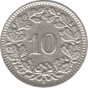 10 centimes Tête de Libertas (nickel) -  revers