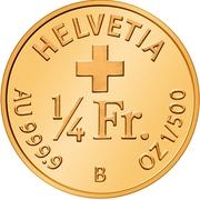 1/4 franc Albert Einstein – avers