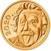 1/4 franc Albert Einstein – revers