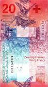 20 Francs (9ème série) – revers