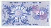 20 Francs (Henri Dufour) – revers