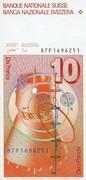 10 Francs (Leonhard Euler) – revers