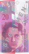 20 Francs (Arthur Honegger) – avers