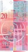 20 Francs (Arthur Honegger) – revers