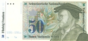 50 francs (7ème série, billet de réserve) – avers