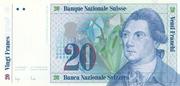 20 Francs (reserve banknote) – avers