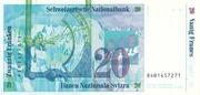 20 Francs (reserve banknote) – revers