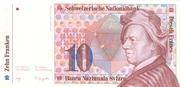 10 francs (7ème série, billet de réserve) – avers