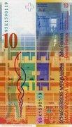 10 Francs (Le Corbusier) – revers