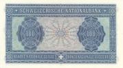 100 francs (4ème série, billet de réserve) – revers