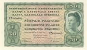 50 francs (4ème série, billet de réserve) – avers