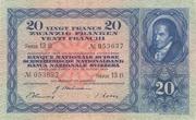 20 Francs (3ème série) – avers