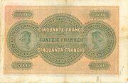 50 Francs (1ère série) – revers