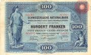100 francs (1ère série) – avers