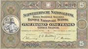 5 francs (2ème série) – avers